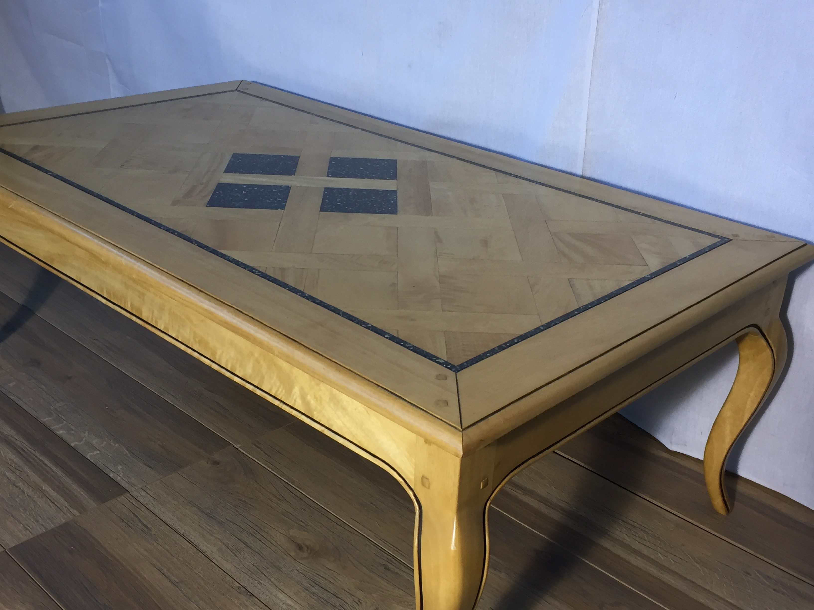 Clic Contemporary Style Blonde Wood Coffee Table Lbs9 French Furniture Sydney