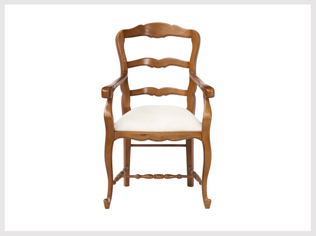 French provincial style armchair, upholstered seat (L18)