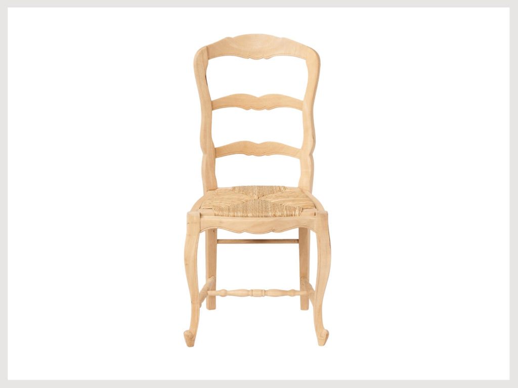 French country style chair in raw finish (LR19)