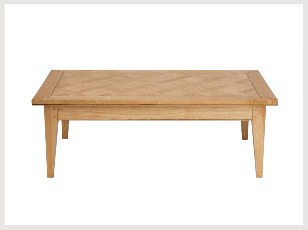 Contemporary provincial style coffee table in blonde finish (LAB26)