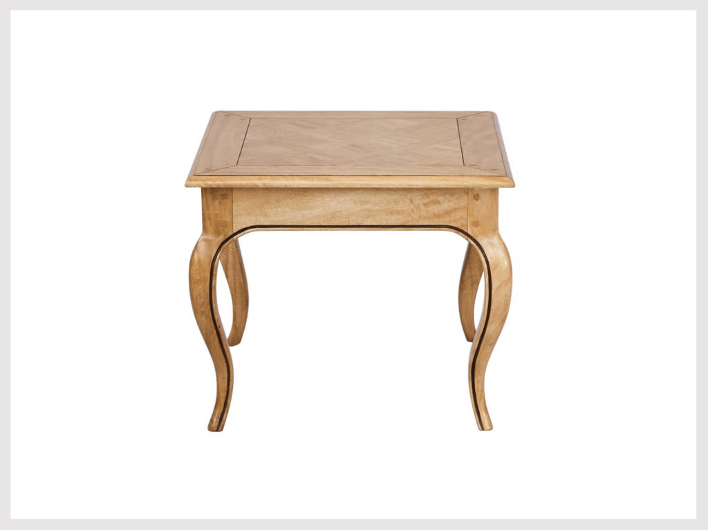 French provincial style blonde wood side table (LB11)