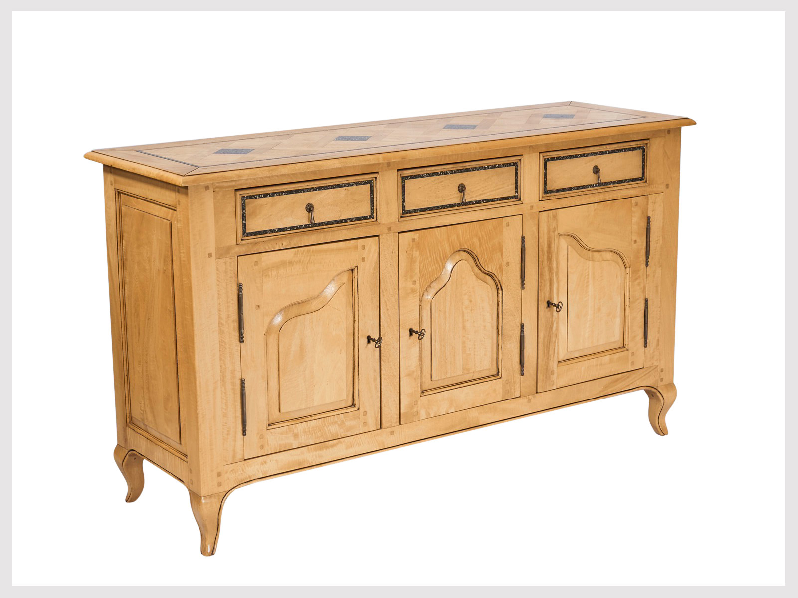 Exceptionnel French Provincial Style Buffet In Stone Washed Finish With Granite Inlays  (LBS13) U2013 French Furniture Sydney