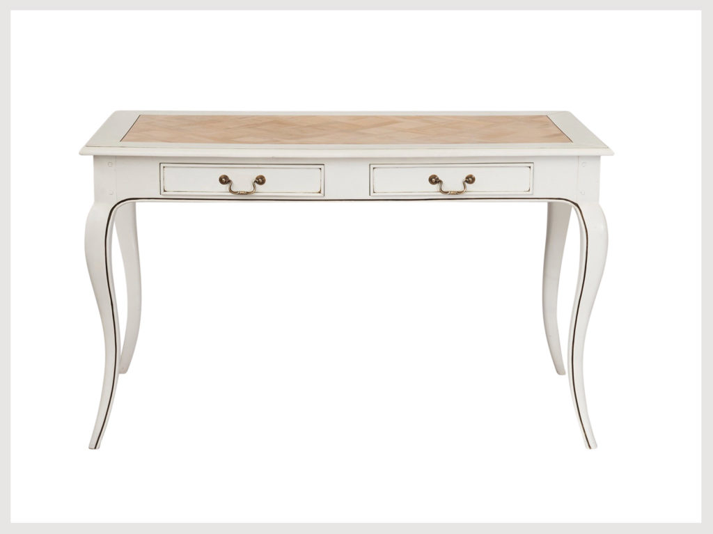 French Provincial 2 drawer not so shabby chic desk (LW7)