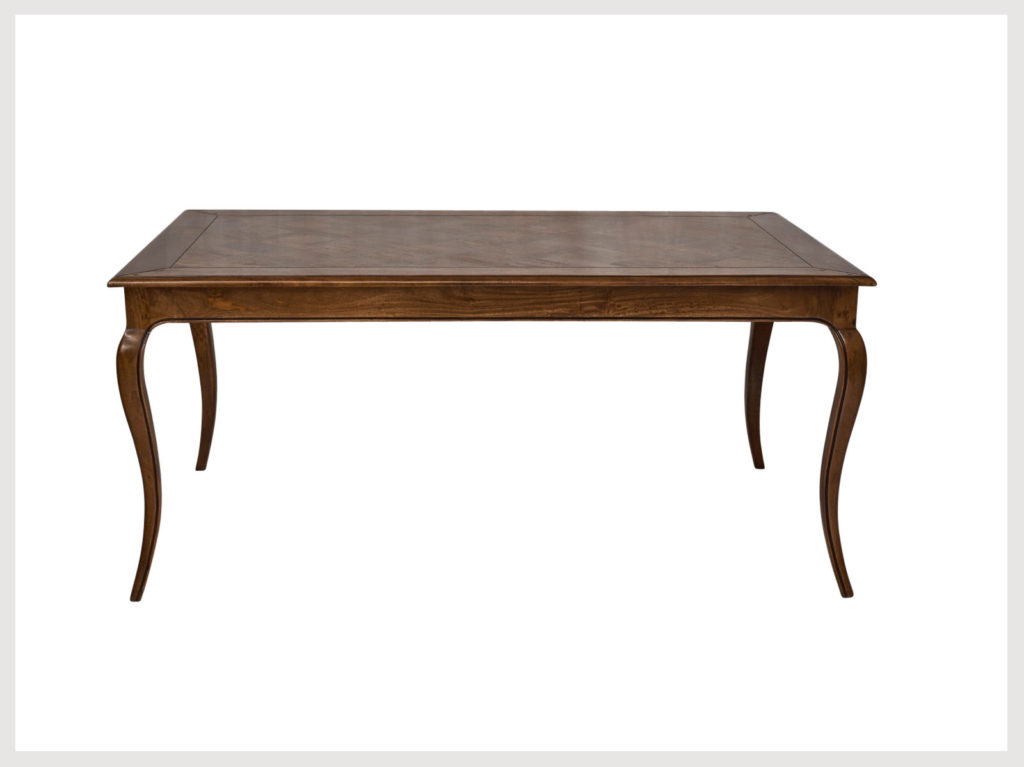 French provincial style 6-8 seater dining table in fruitwood finish (L1)