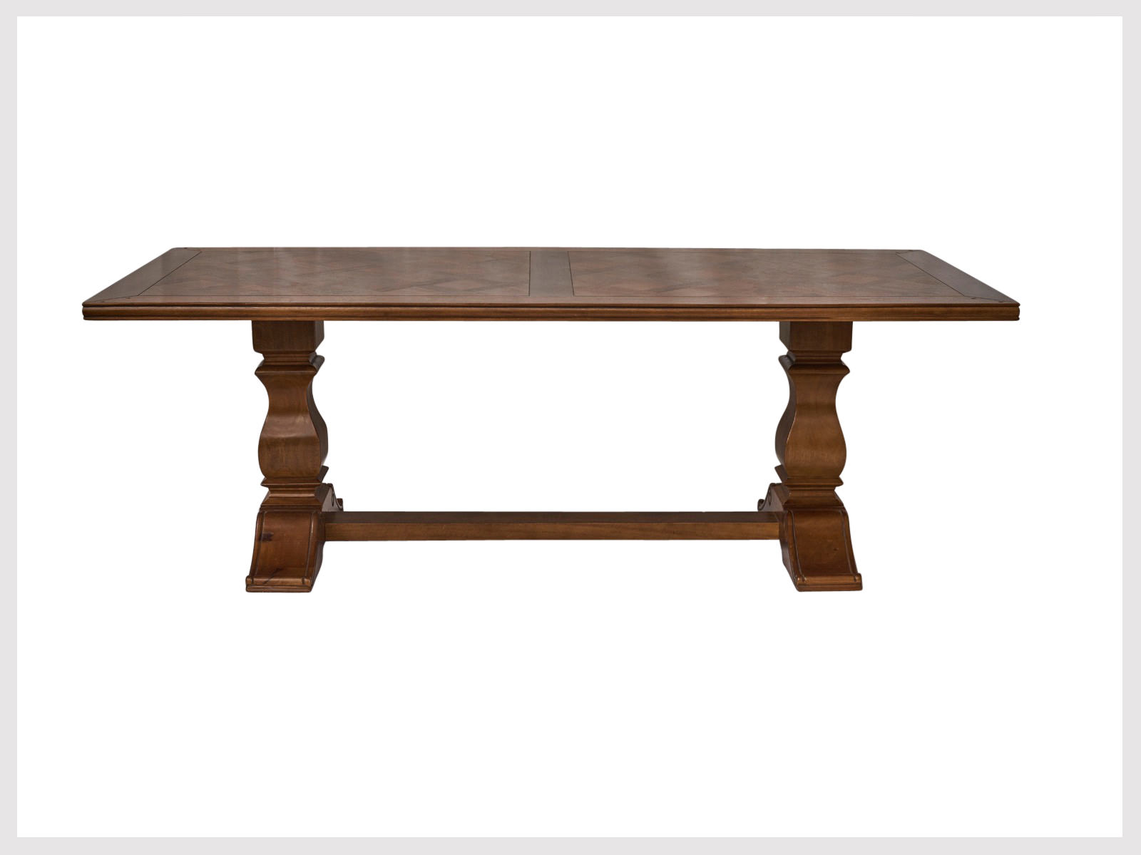 Large solid pedestal dining table in french provincial for 32 wide dining table